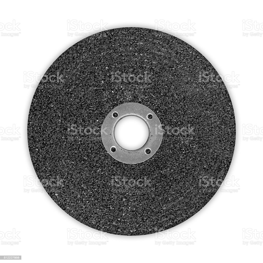 Abrasive disk drinding wheel isolated on white stock photo