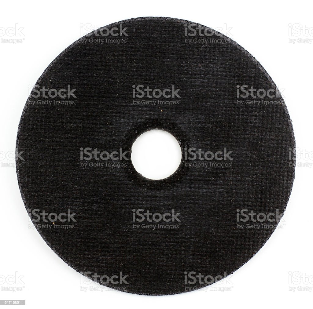 abrasive disk for metal grinding, cutting isolated on white background stock photo