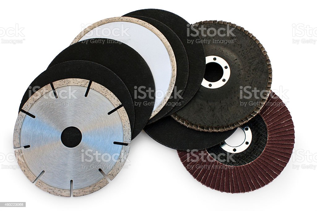 abrasive flap grinding discs stock photo