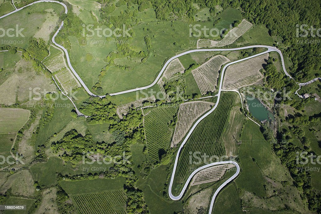 Abruzzo: aerial view stock photo