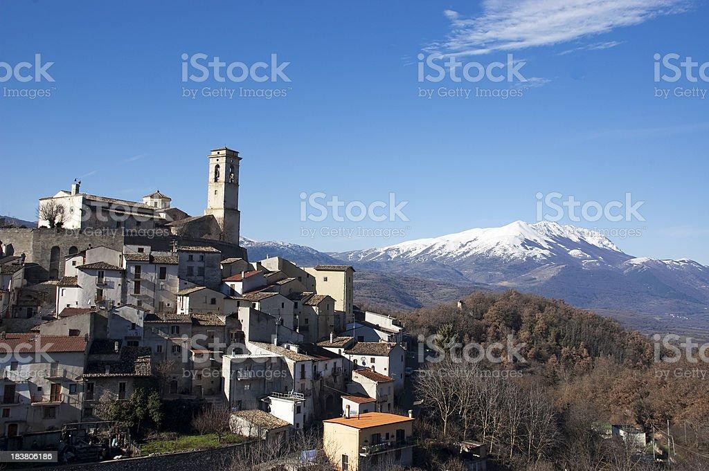 Abruzzo village royalty-free stock photo