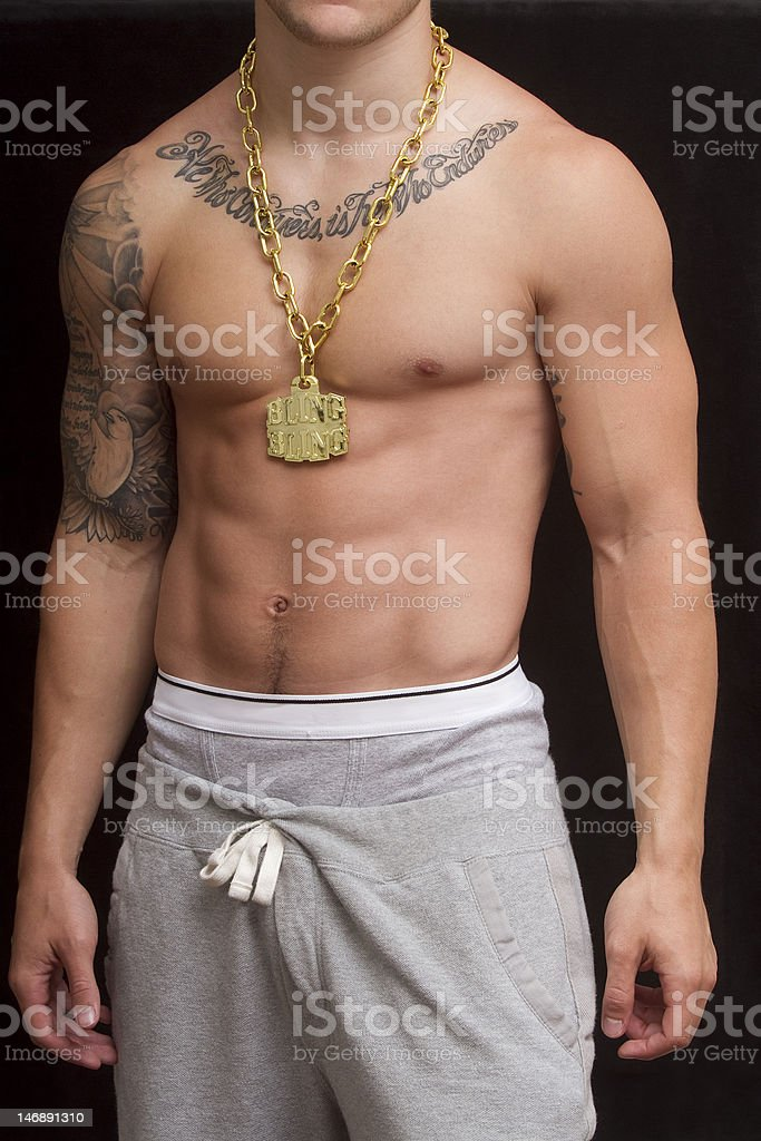 Abs and Bling royalty-free stock photo