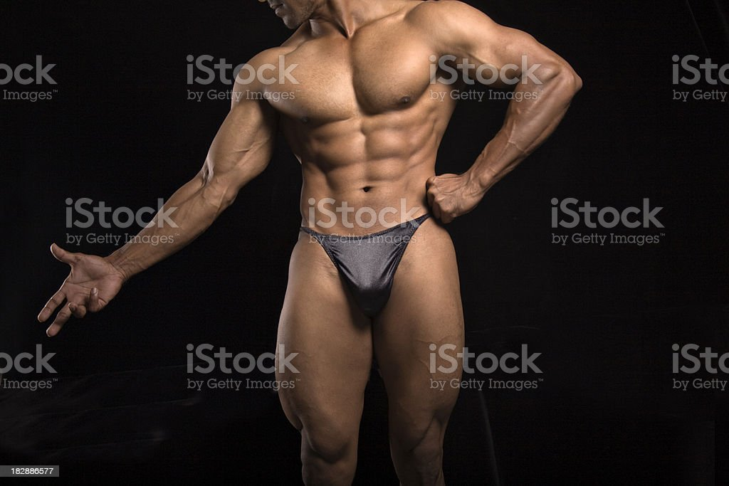Abs and muscular male bodybuilder royalty-free stock photo
