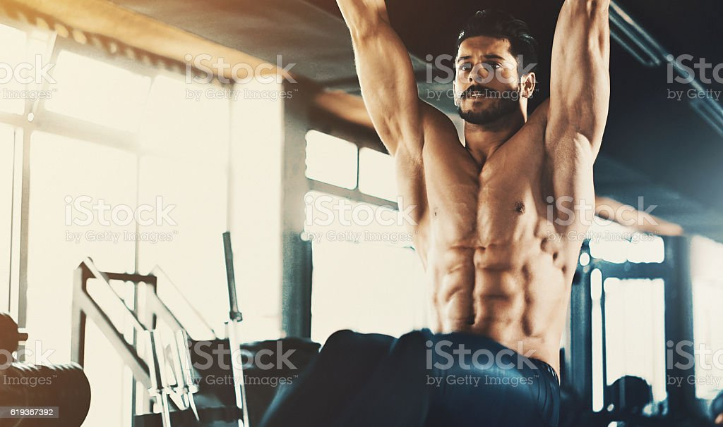 Abs exercise. stock photo