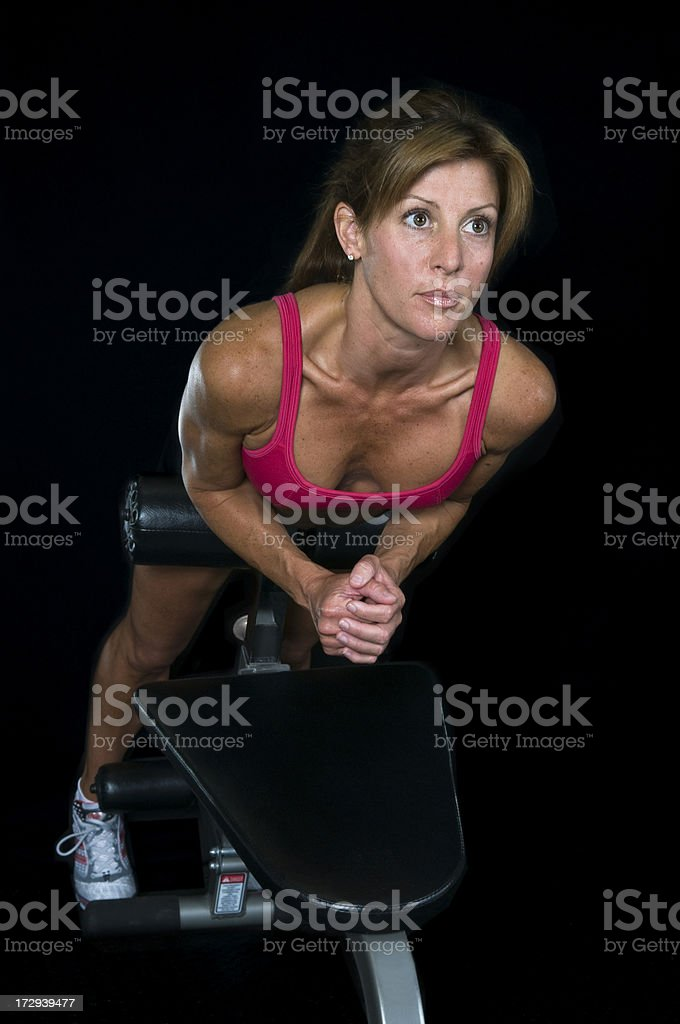 Abs Workout on Black royalty-free stock photo