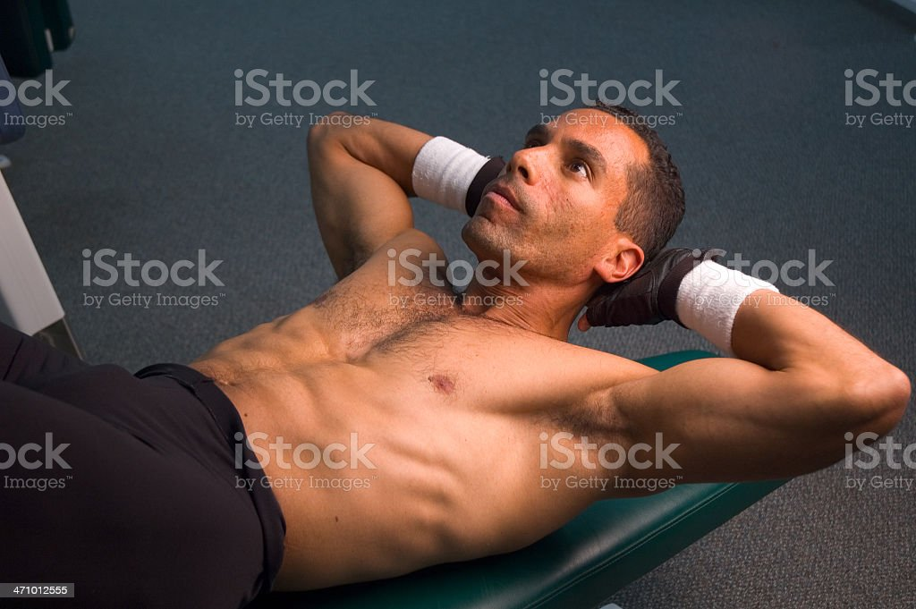 Abs Workout royalty-free stock photo