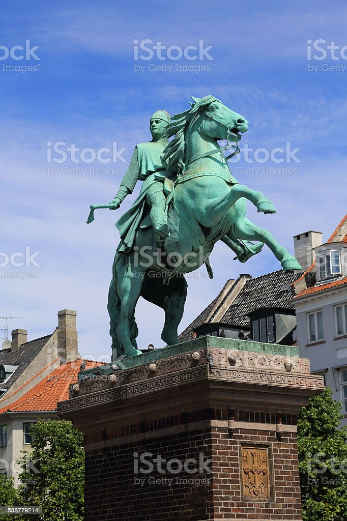 Absalon - bishop and warrior stock photo