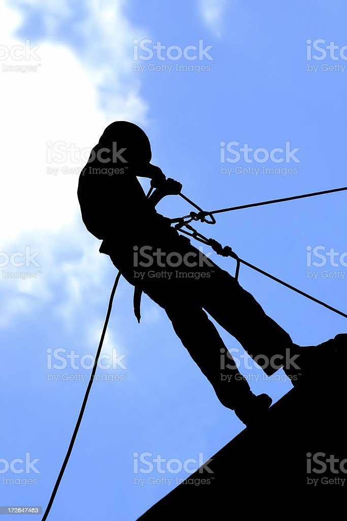 Abseil royalty-free stock photo