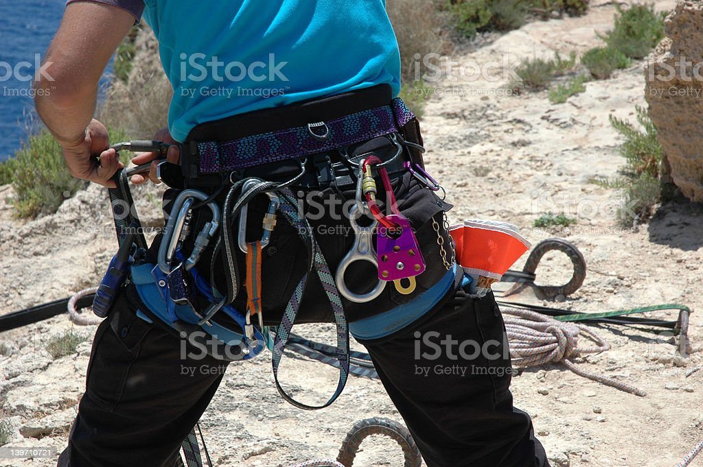 abseiling royalty-free stock photo
