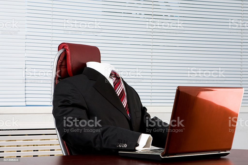 Absent boss stock photo