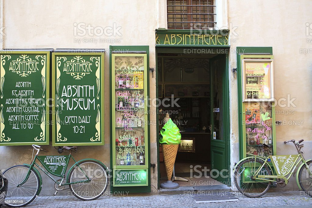 Absinth museum, Prague royalty-free stock photo