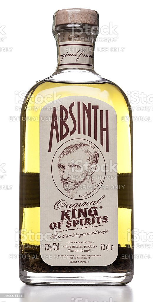 Absinthe Original King of Spirits bottle stock photo
