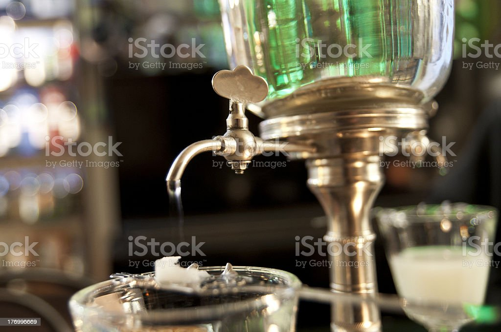 absinthe ritual stock photo