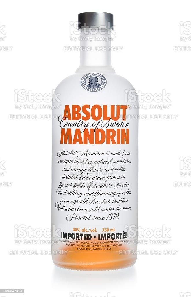 Absolut Mandrin Vodka stock photo