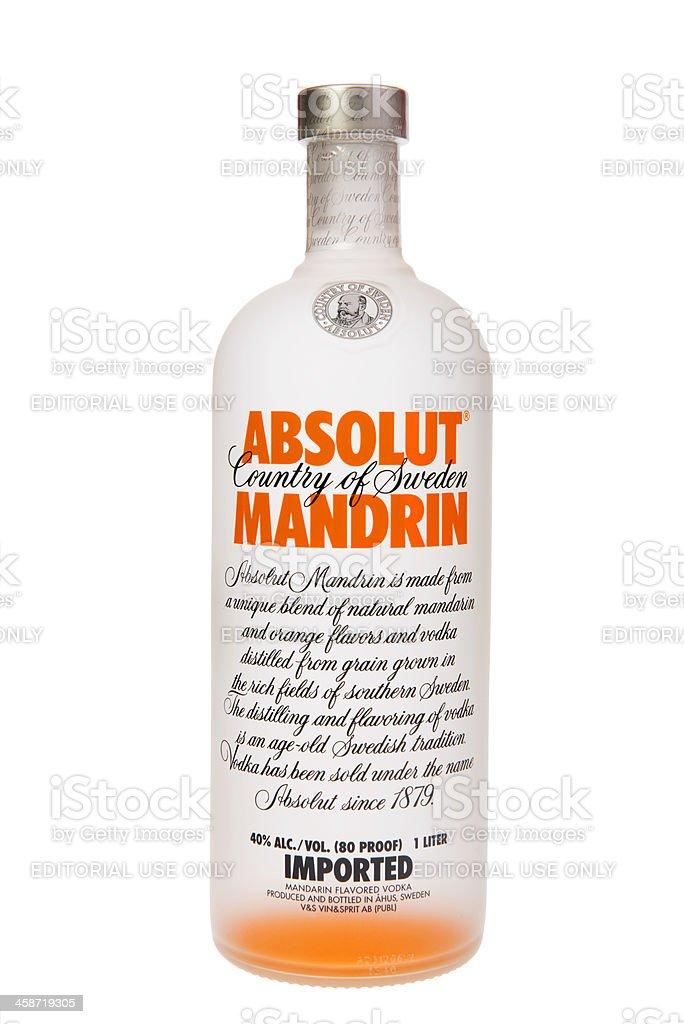 Absolut Mandarin Vodka stock photo