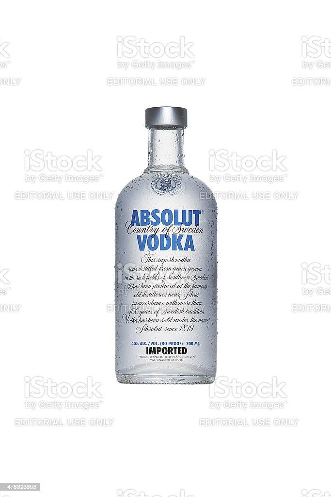 Absolut Vodka bottle stock photo