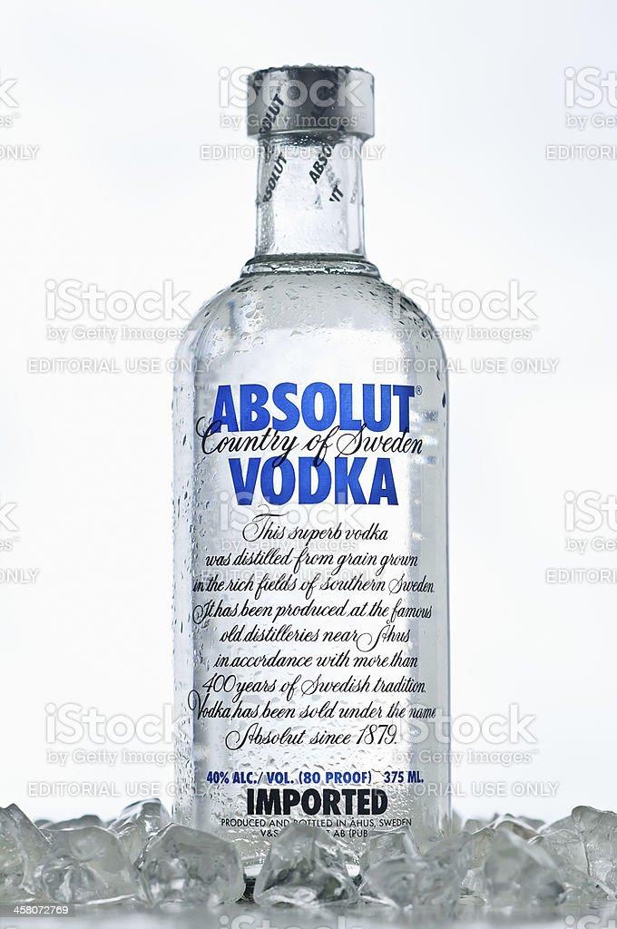 Absolut Vodka On The Rocks stock photo