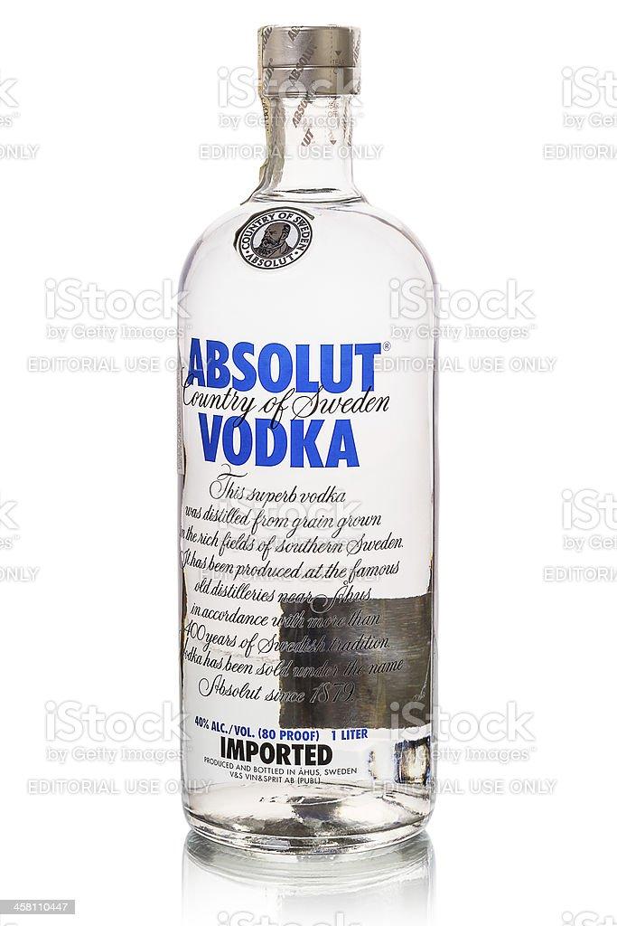 Absolut Vodka on white stock photo