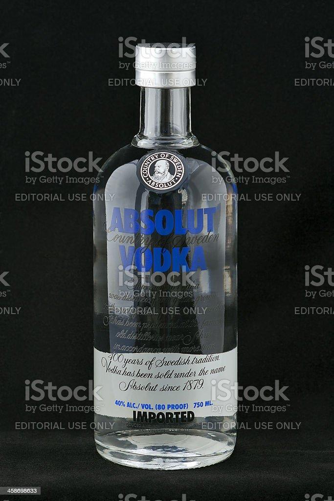 Absolut Vodka stock photo