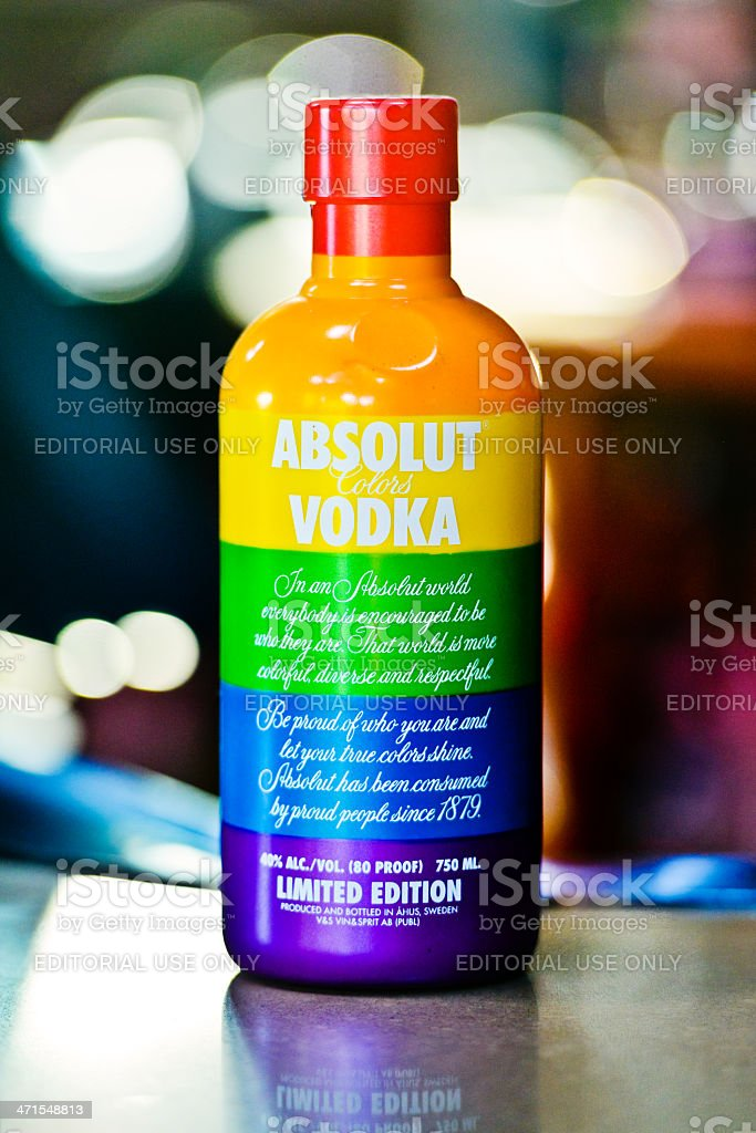 Absolut Vodka - Special Gay Limited Edition stock photo