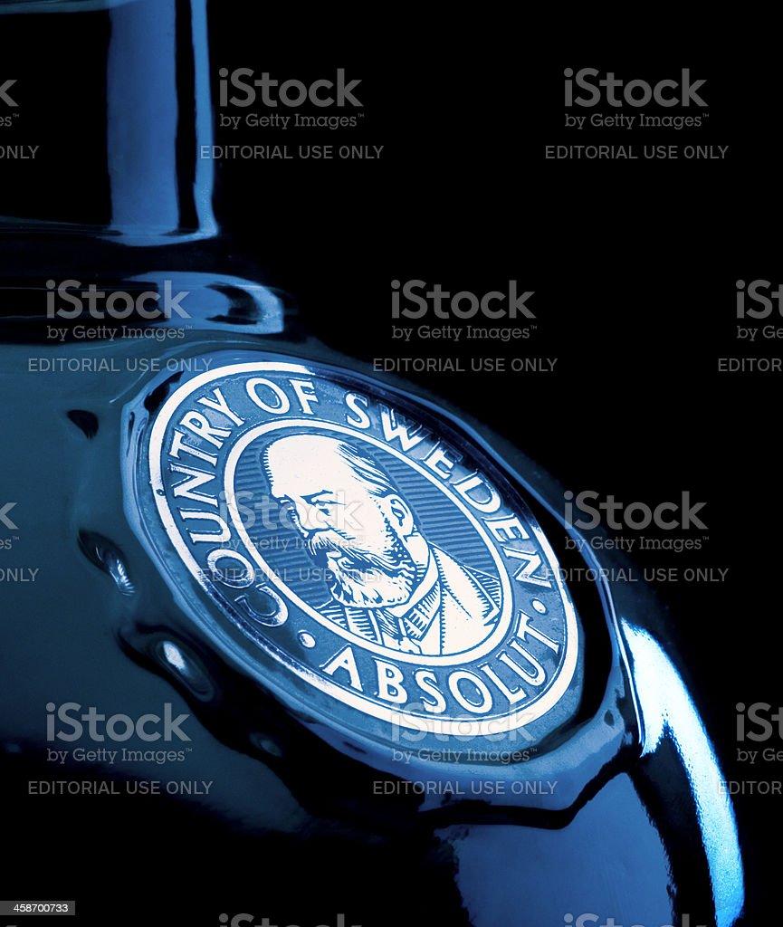 Absolut Vodta Bottle stock photo