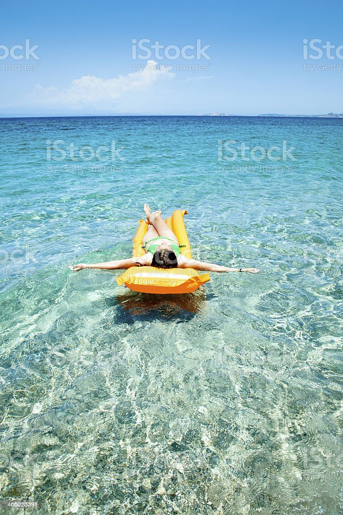 Absolute sea relax royalty-free stock photo