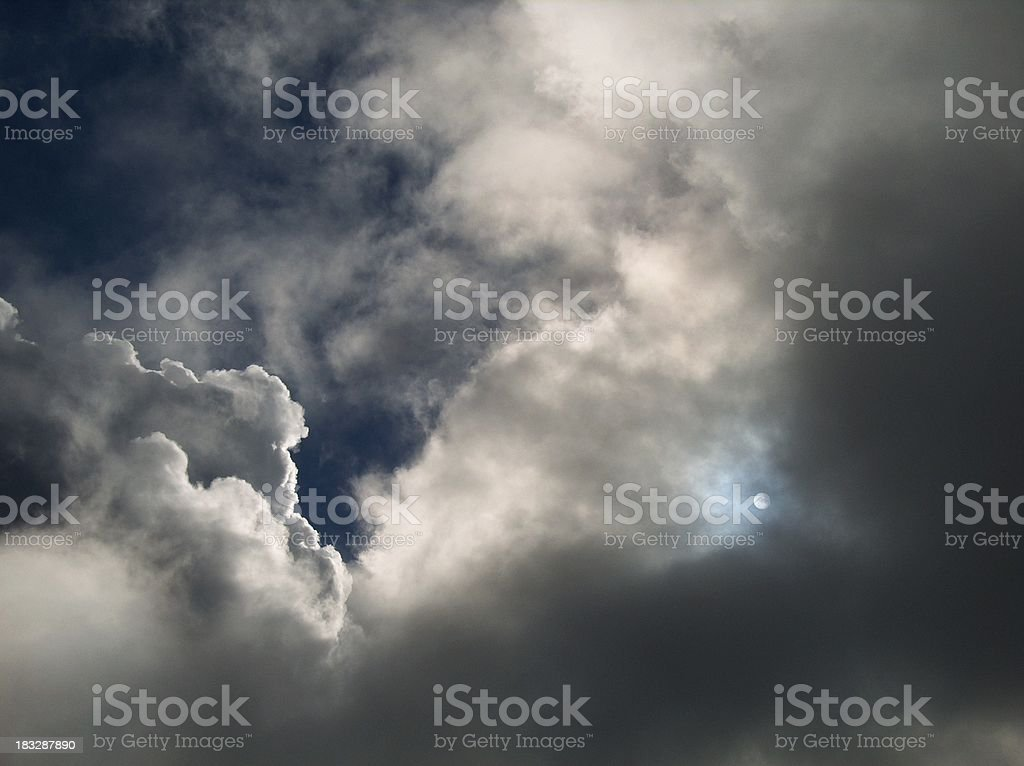Absolute Serenity: Sun And Clouds royalty-free stock photo