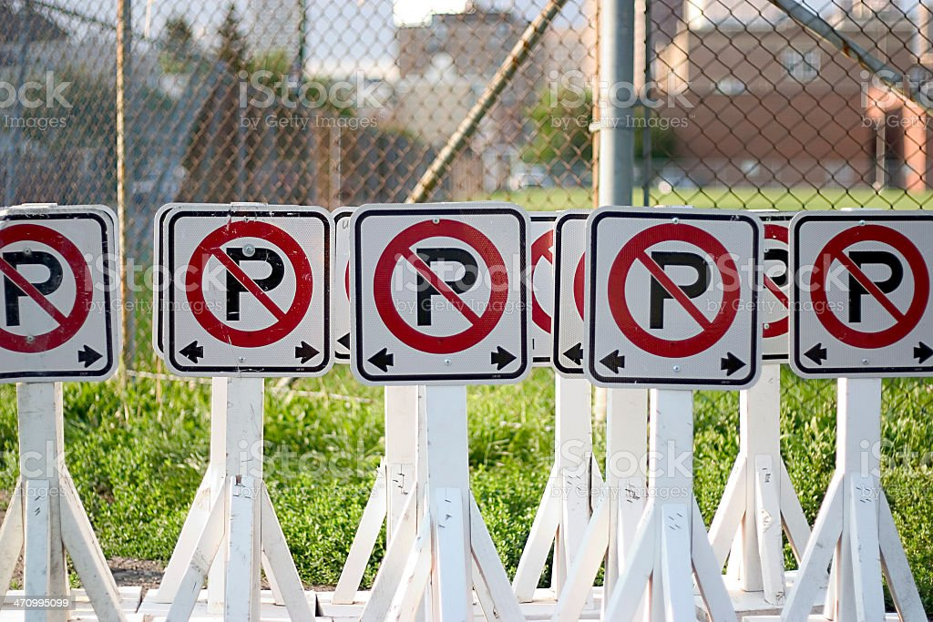 Absolutely No Parking royalty-free stock photo