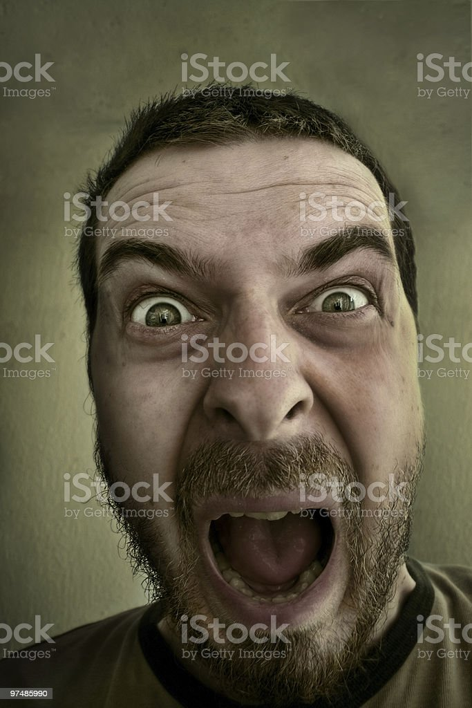 Absolutely shocked and outraged guy royalty-free stock photo