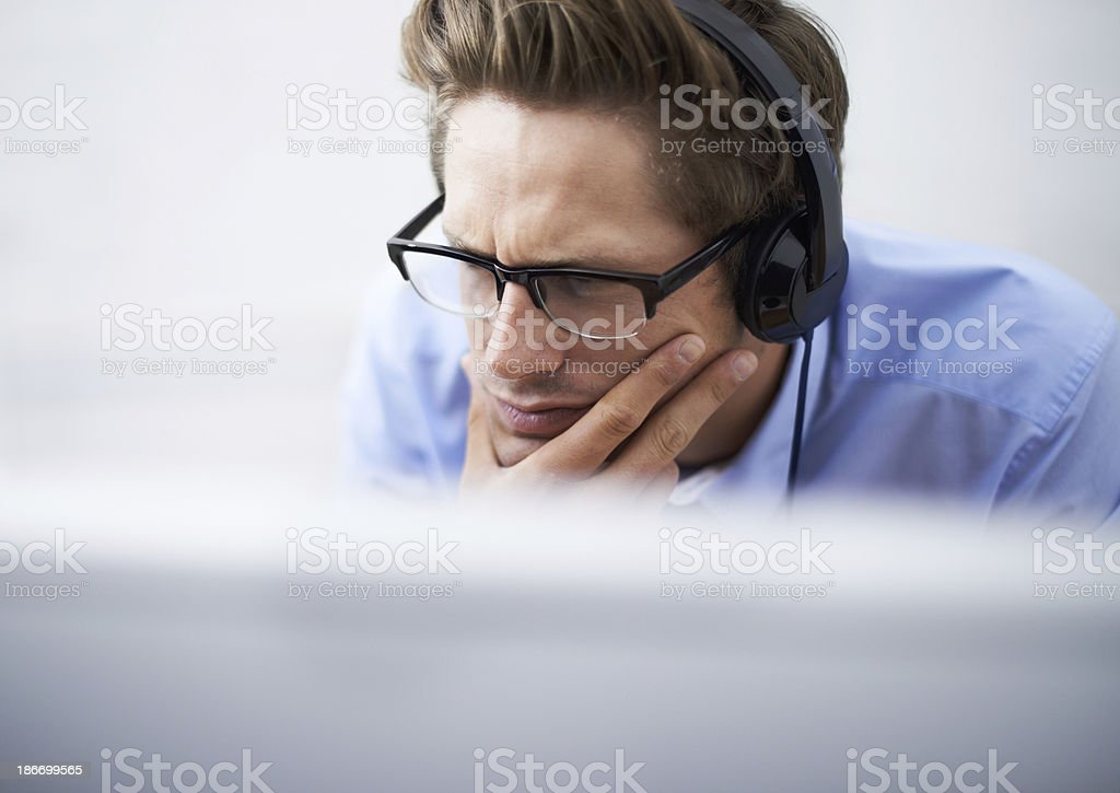 Absorbed in his work royalty-free stock photo