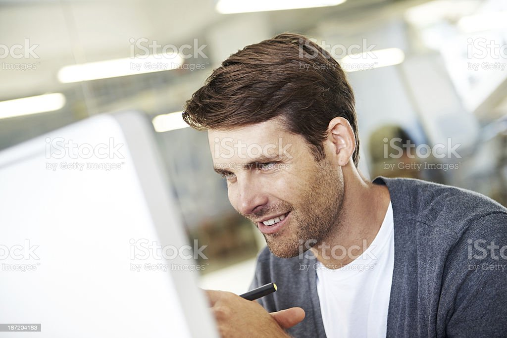 Absorbed in some stimulating work royalty-free stock photo