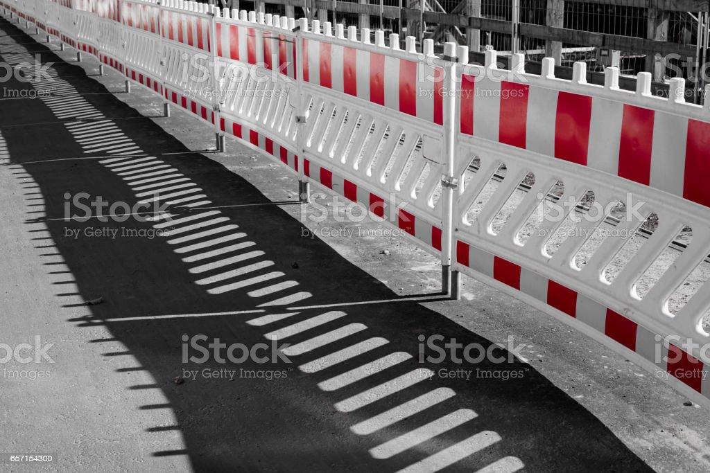 Absperrung stock photo