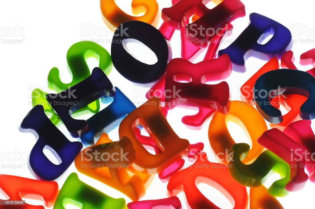 Absract letters royalty-free stock photo