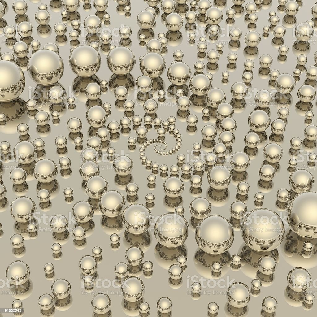 absract spheres background royalty-free stock photo