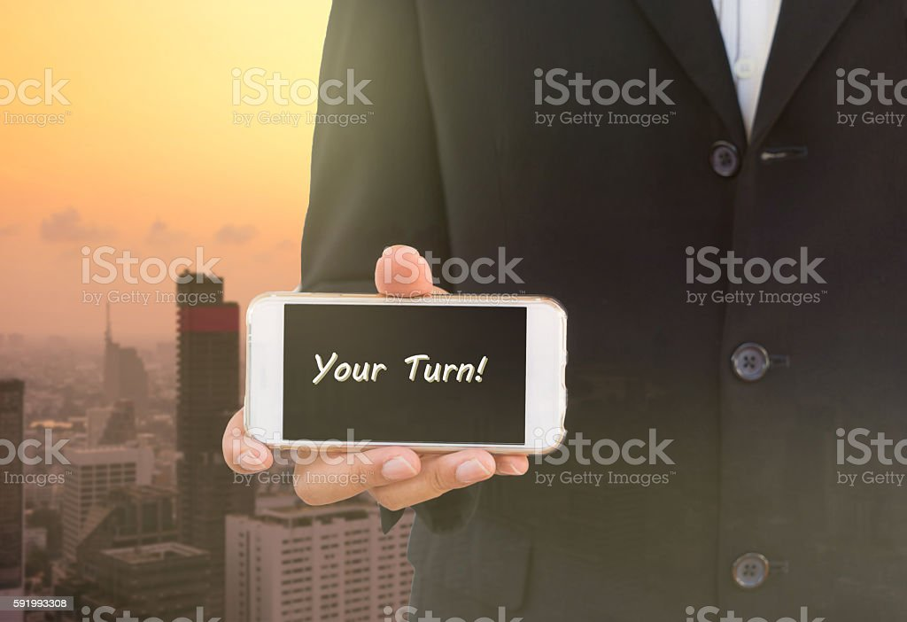 abstact background business man show message your turn stock photo