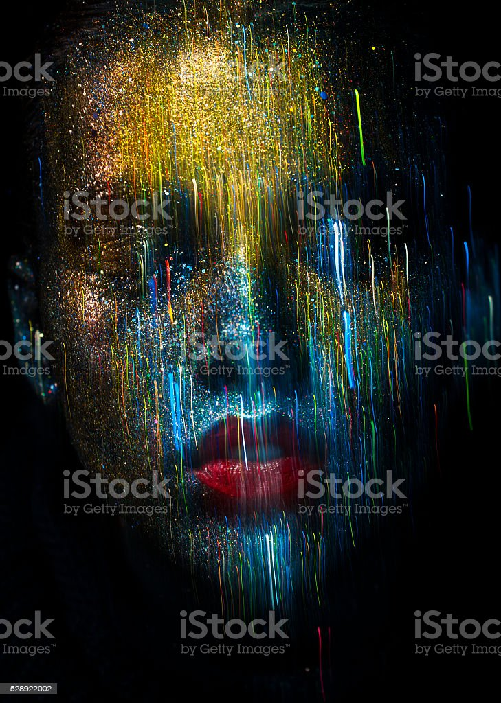 Abstact bokeh makeup stock photo