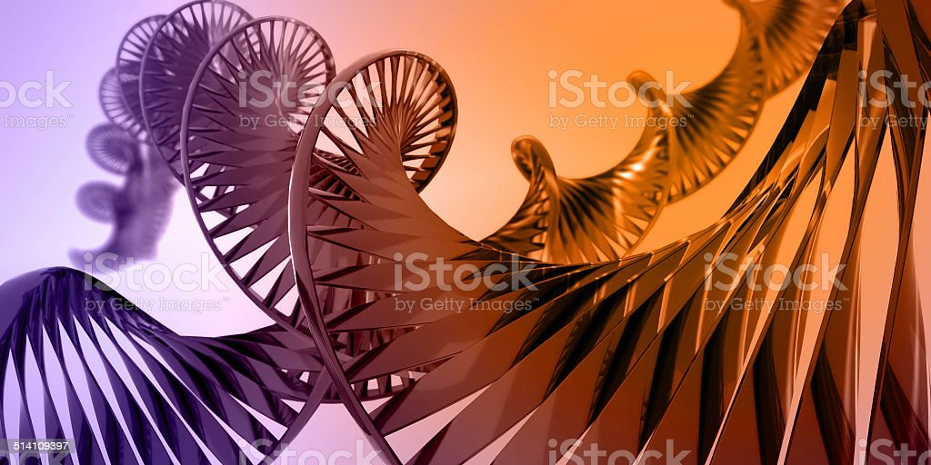3D abstaction of DNA2 stock photo