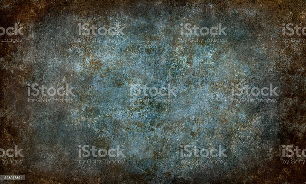 Abstarct Brown Blue Scratched Background stock photo
