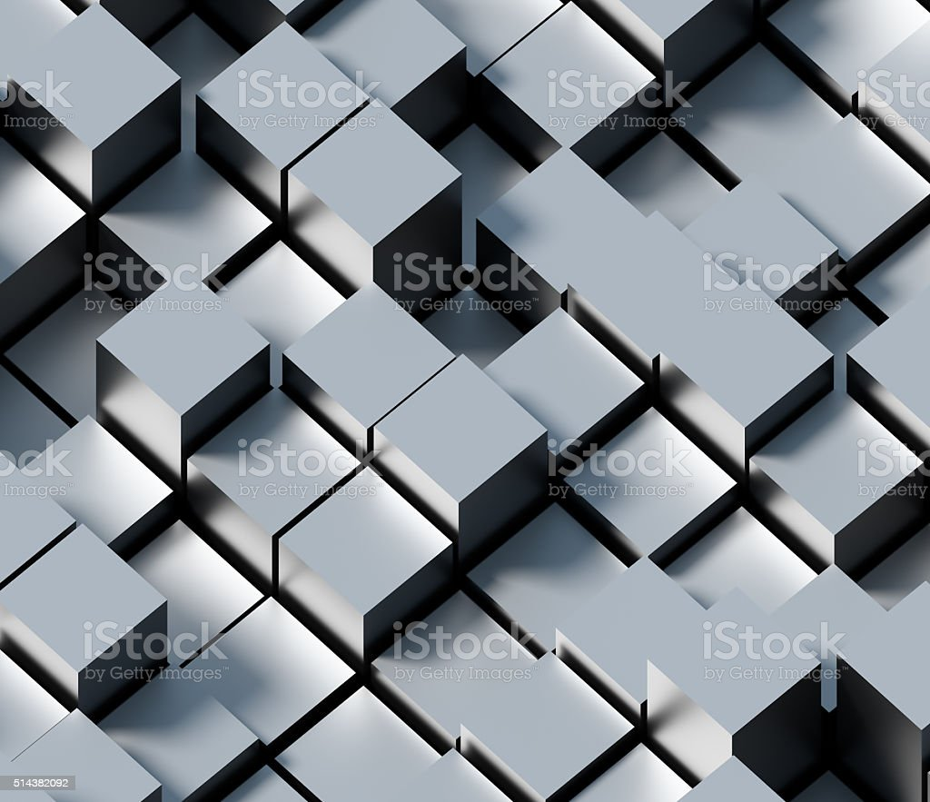 Abstarct metal cube background stock photo