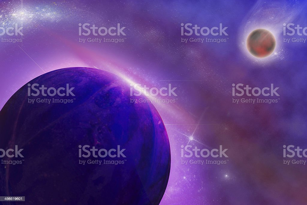 abstrack star landscape in deep space royalty-free stock photo