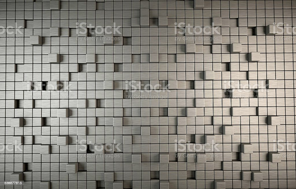 Abstract 3D background of cubes stock photo