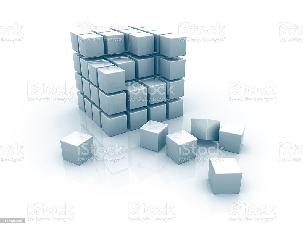 Abstract 3d blocks royalty-free stock photo
