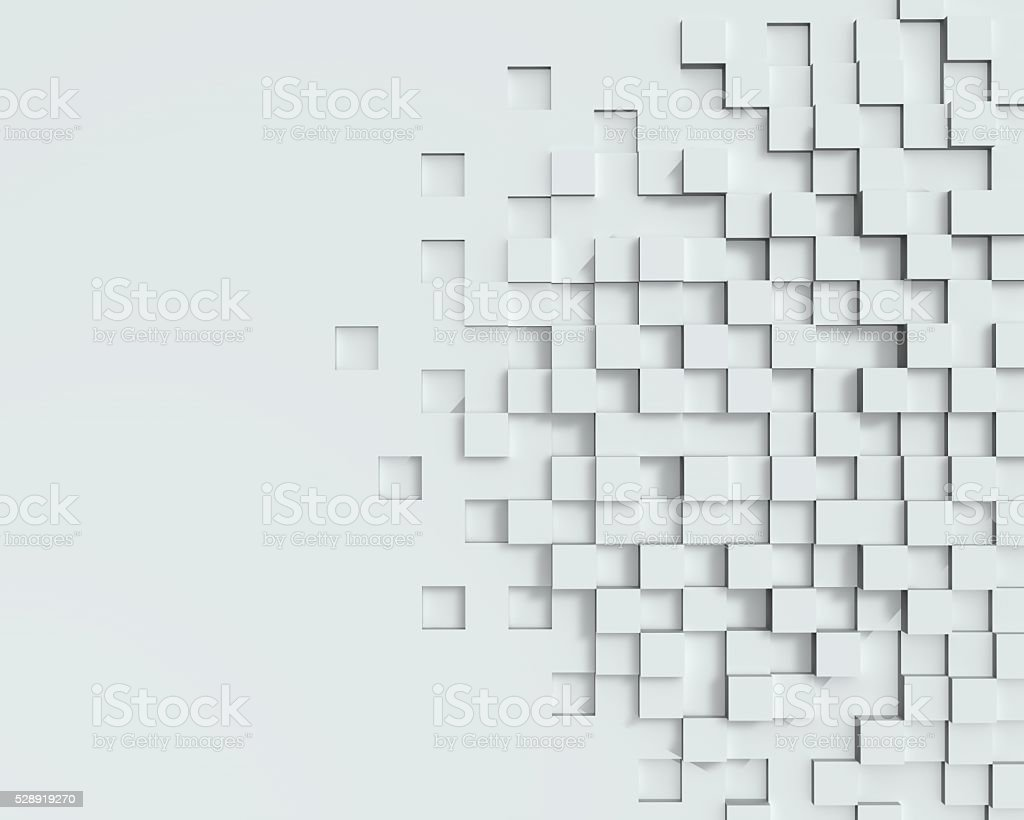 Abstract 3D cubes background stock photo