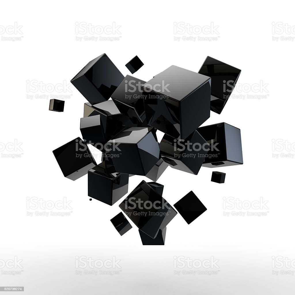 Abstract 3D cubes stock photo