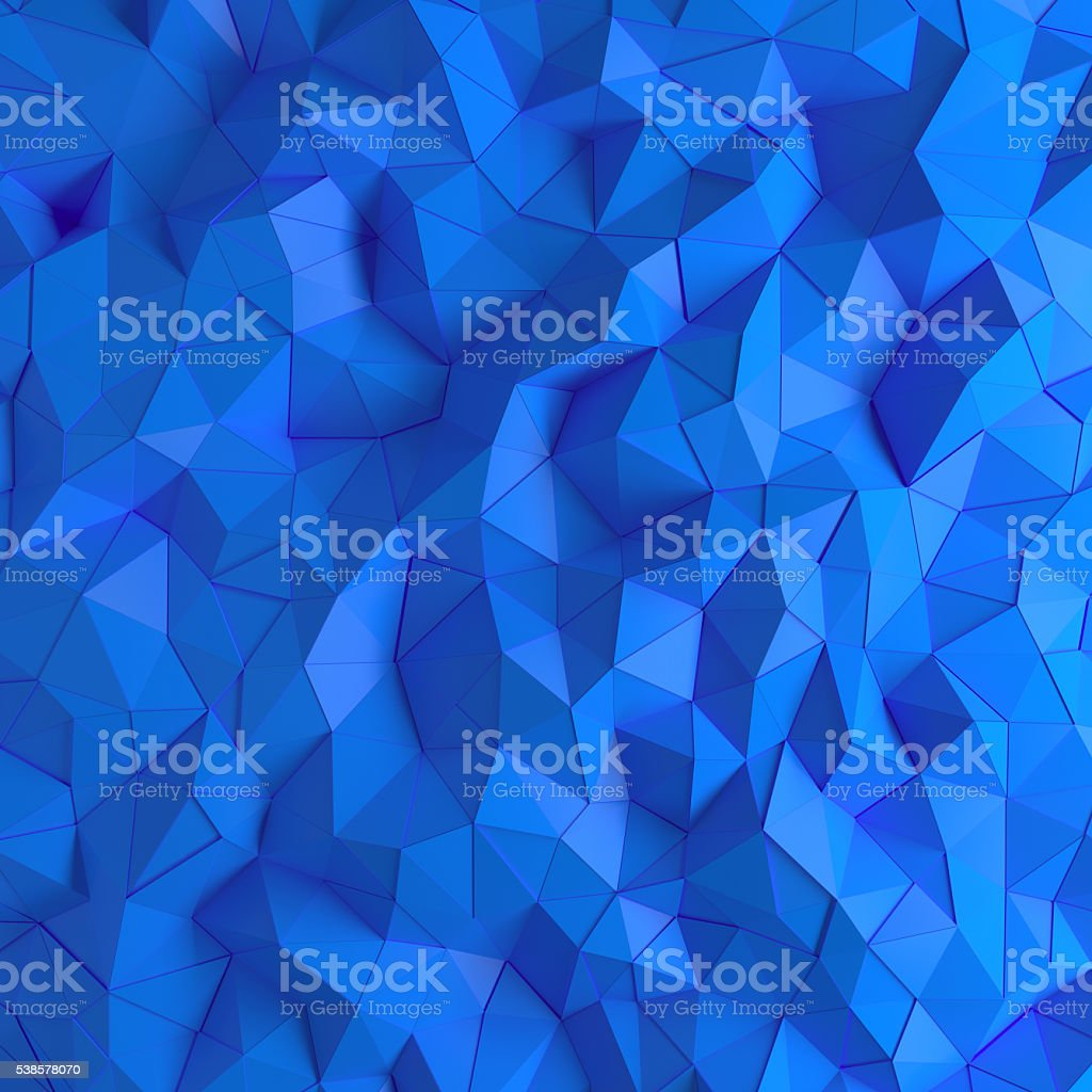 Abstract 3D geometric polygon facet background stock photo