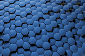 Abstract 3D hexagon blue background