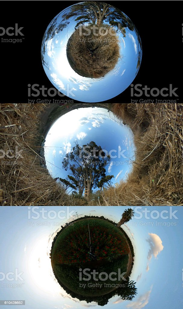 Abstract 3d Little Planet Format stock photo