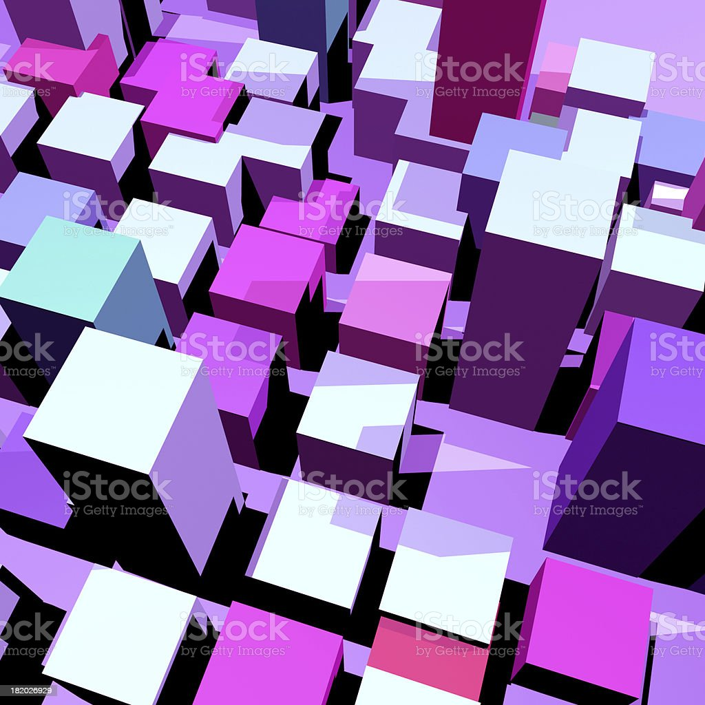 abstract 3D model cube background royalty-free stock photo