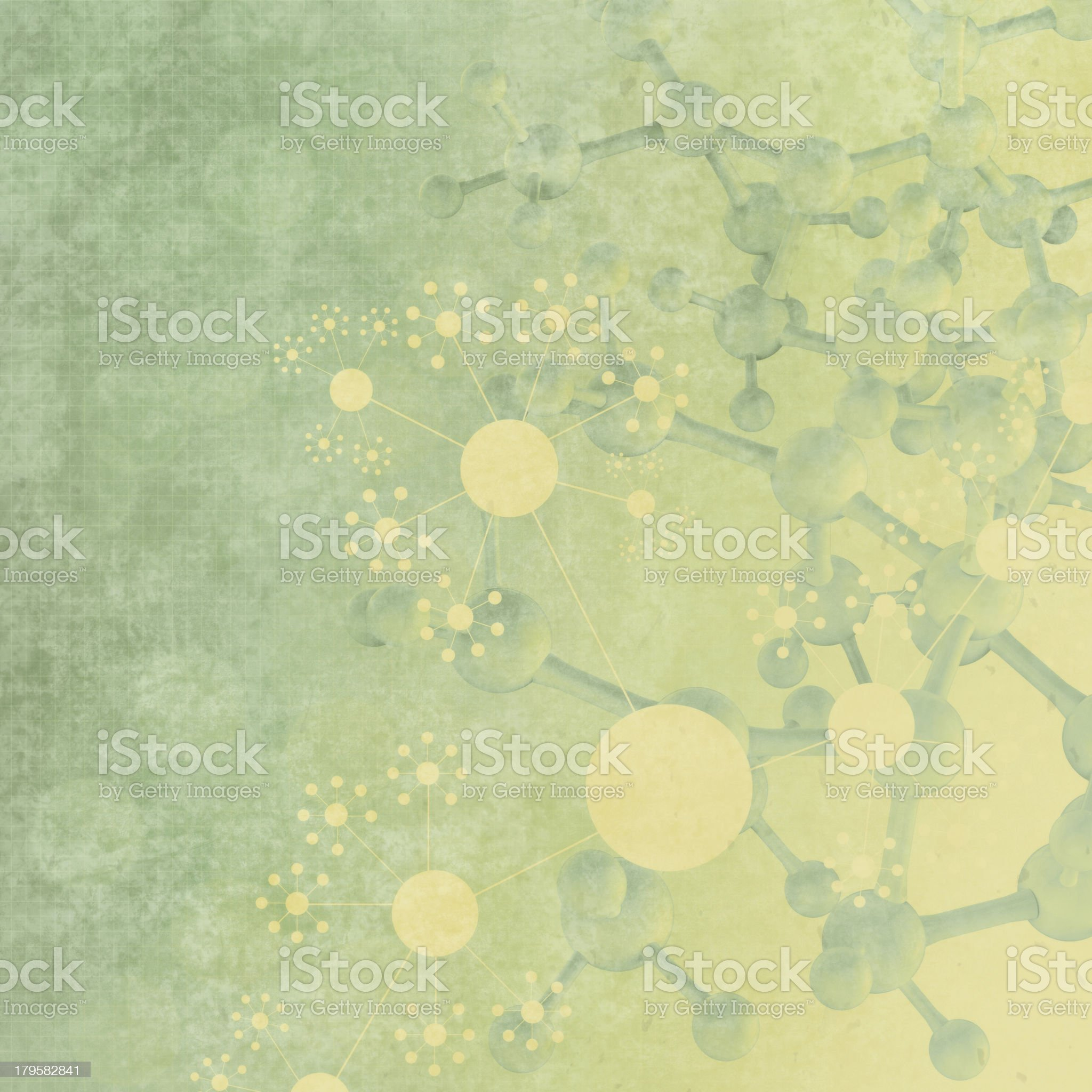 Abstract 3d molecules medical background royalty-free stock photo
