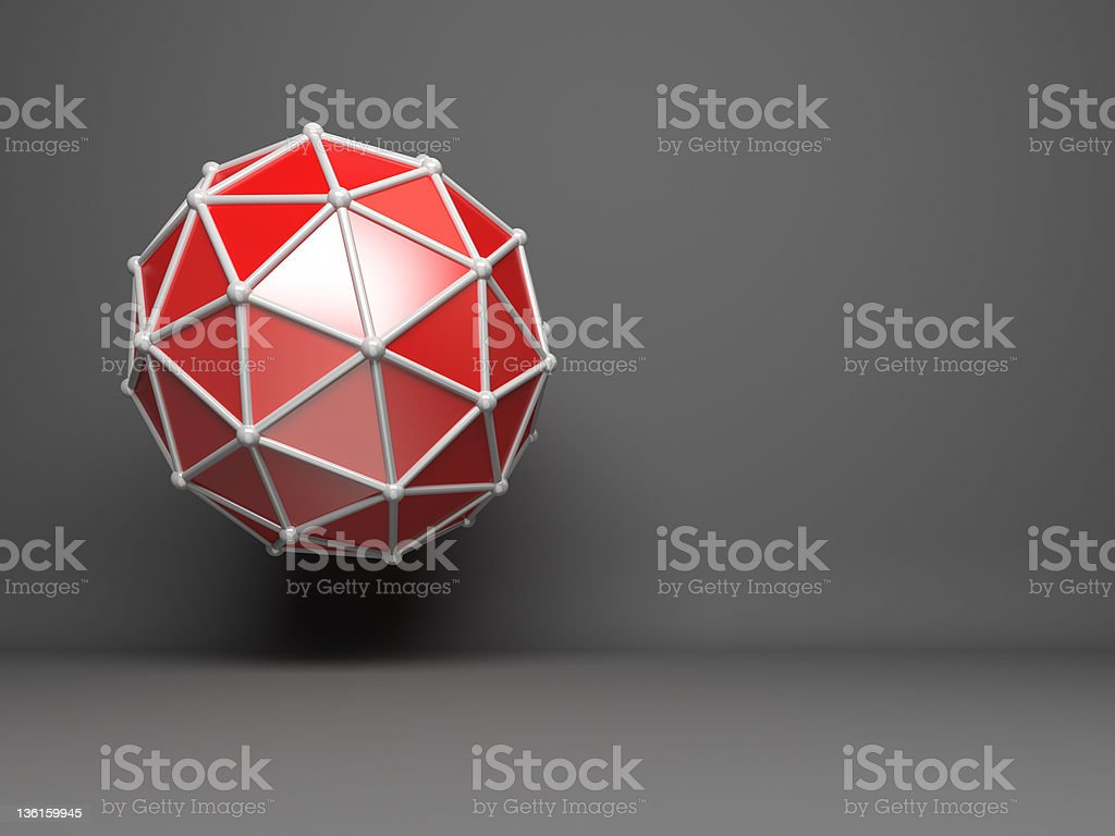 abstract 3D network concept royalty-free stock photo